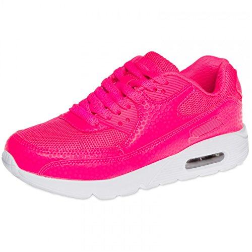 Neon Pink SSN006 CASPAR Trainers Women v0PnTZx