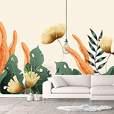Created By a Professional Artist, Dazzling Handicraft, Wall Murals for Bedroom Green Plants Animals Removable Wallpaper Peel and Stick Wall Stickers