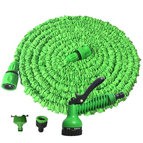 - Garden Hose 50FT and 100FT Scalable Garden Hose 7 Mode Nozzle Car high Pressure car wash Plastic Connector and Spray Gun Household Magic Hose,100FT