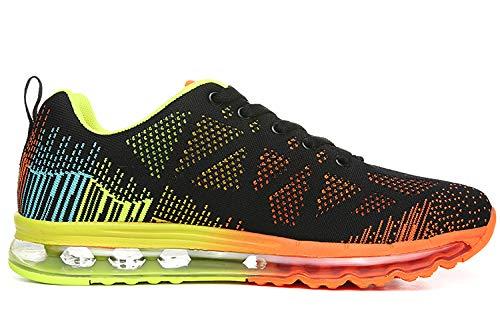 da Uomo Basse arancione Casual Sneakers ASHION Interior all'Aperto Running Ginnastica Air 3 Sportive Fitness Scarpe Corsa fwwtqZA5