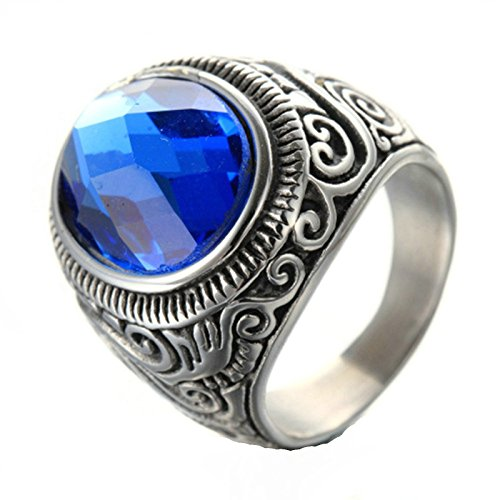Adisaer Ring Stainless Steel for Men Vintage Finger Ring ...