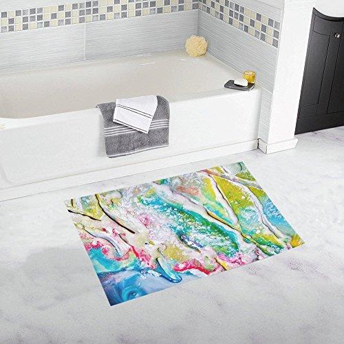 Art Abstract Abstract Art Modern Art Modern Wax Custom Non-slip Bath Mat Rug Bath Doormat Floor Rug For Bathroom 20 X 32 Inch (Wax Floor Slip)