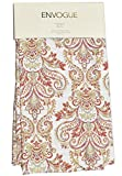 red and gray curtains - Envogue Pascal Paisley Scrolls Medallions Window Panels 50 by 96-inch Set of 2 Floral Paisley Window Curtains Hidden Tabs Red Rust Orange Blue Gray Taupe Ivory (Red/White)
