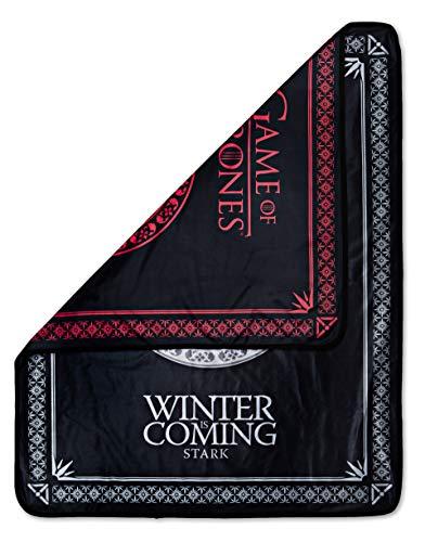 Rabbit Tanaka Game of Thrones Reversible Fleece Throw Blanket -House Sigil Soft Fleece Throw -GoT Stark and Targaryen 46