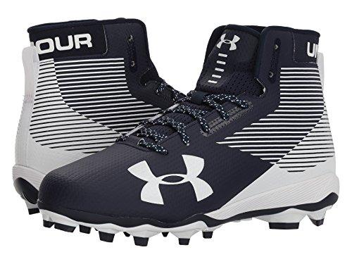 添付スツール強化(アンダーアーマー) UNDER ARMOUR メンズフットボール?アメフトシューズ?靴 UA Hammer MC Midnight Navy/White 10 (28cm) D - Medium