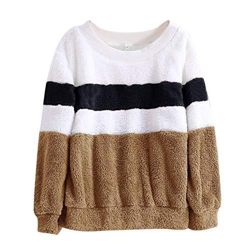 Kobay Womens Sweatshirt, Ladies' Winter Color Matching Solid Patchwork O...