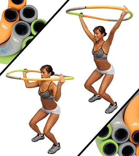 Weighted Hula Hoop - Adjustable Segment Weights - 2.5 - 3 Pounds - High Intensity Workouts - Burn Fat & Lose Weight - Designed for Dancing Workouts & Ultra Fitness
