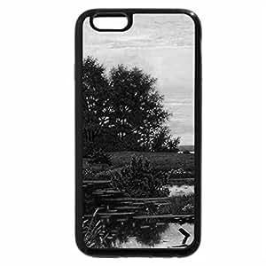 iPhone 6S Plus Case, iPhone 6 Plus Case (Black & White) - Yu.Shahmatov. Sunset on the marsh