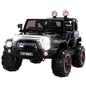 Uenjoy Jeeps Kid's Ride on Car 12V Children's Electric Car with Remote Control 4 Speeds Black