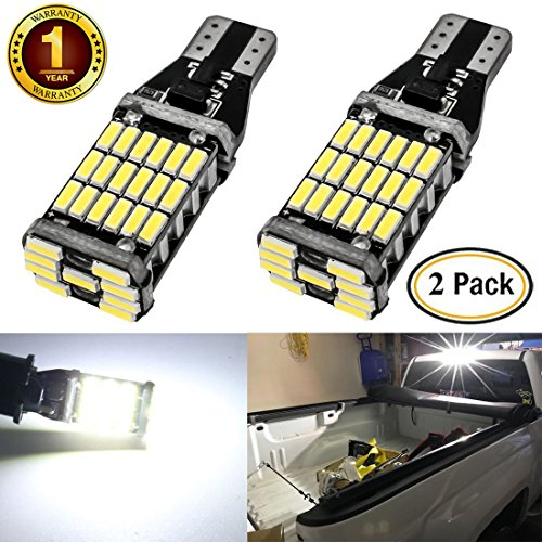 Shangyuan 2pcs 921 912 T15 45smd 4014 Canbus Led Bulb 900 Lumens Extremly Bright For Chevrolet Ford Gmc Honda Nissan Toyota Truck 3rd Brake Lamp Cargo Lights