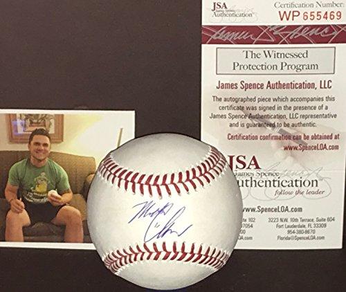 (Michael Chavis Boston Red Sox Autographed Signed Official Major League Baseball JSA WITNESS COA )