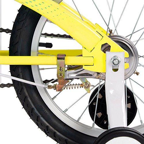 FDInspiration Yellow 45'' x 31.5'' Metal Frame Kids Bike w/Training Wheels with Ebook by FDInspiration (Image #7)