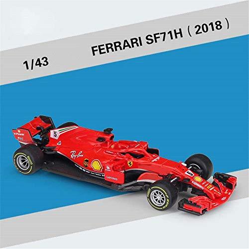 Modelcars 1:43 Scale F1 Ferrari SF71H Diecast Car New Toy Collection Model Sebastian Vettel Kimi Räikkönen 2018 No.5 (Best 1 43 Diecast Cars)