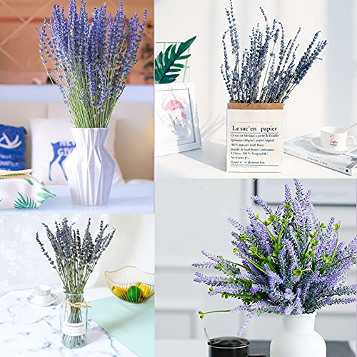HAKACC Lavender Bundles Natural Dried Flowers Never Withered Decorative Flowers Bouquet for Wedding,Home,Office