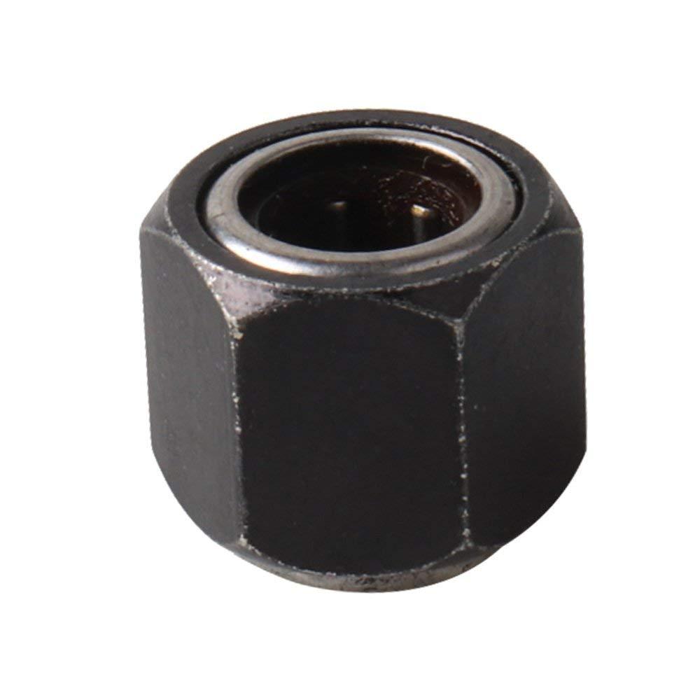 DGdolph R025-12Mm Parti Dado Esagonale Cuscinetto unidirezionale per Hsp 1:10 Rc Auto Nitro Engin C4Z6 Nero