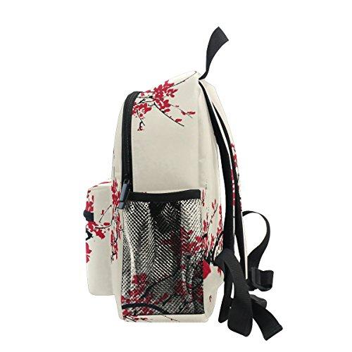 Kindergarten Toddler Cherry for Blossom Bag School Backpack Asian Girls Japanese ZZKKO Pre Kids Boy vqBUx