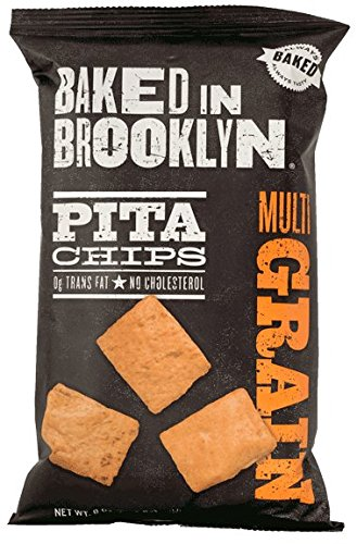 Baked in Brooklyn Pita Chips, Multigrain, 8oz. Bags (Pack of 12)