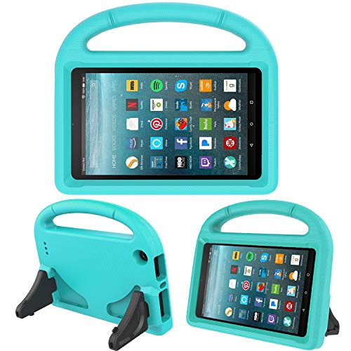 Kids Case for New Fire 7- TIRIN Light Weight Shock Proof Handle Kid –Proof Cover Kids Case for Amazon Fire 7 Tablet (5th Generation, 2015 Release and 7th Generation, 2017 Release), Turquoise