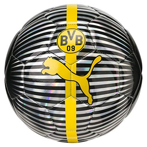 Soccer Replica Arsenal Ball - German Bundesliga Borussia Dortmund PUMA Licensed AccessoriesOfficial License Supplier of Replica and On-Pitch Merch, Puma Black-Cyber Yellow, 5