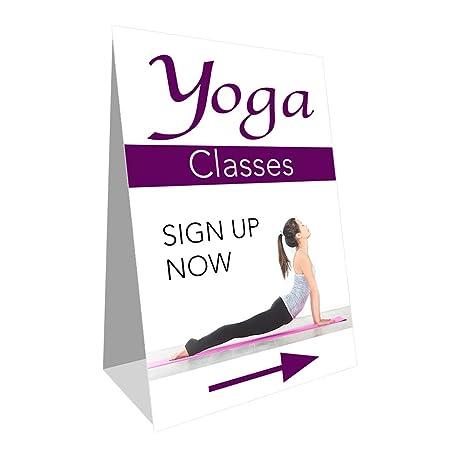 Amazon.com : Yoga Classes Economy A-Frame Sign 2 Feet Wide ...