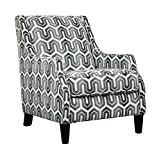 Ashley Furniture Signature Design – Gilmer Upholstered Accent Chair – Contemporary – Gunmetal For Sale
