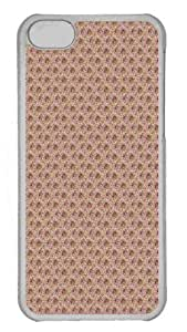 Customized iphone 5C PC Transparent Case - Flower Embroidery Personalized Cover
