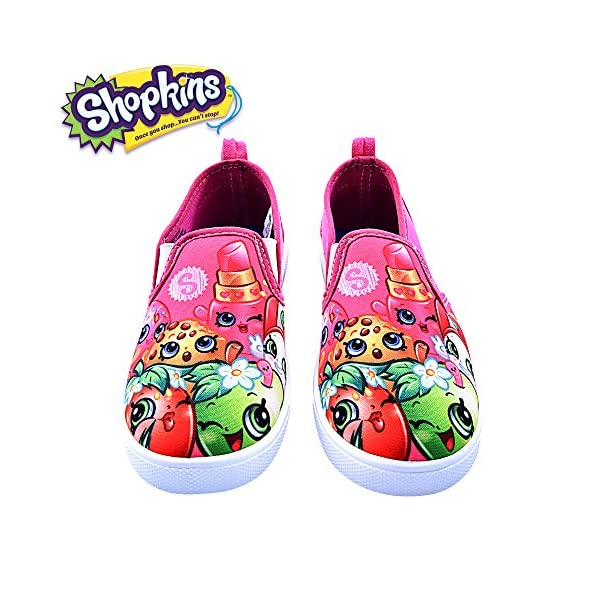 Shopkins Girls Slip-on Canvas Shoes