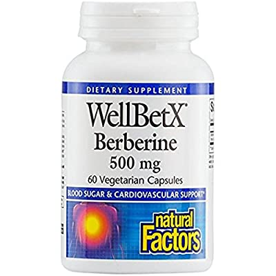 Natural Factors - Wellbetx Berberine 500Mg