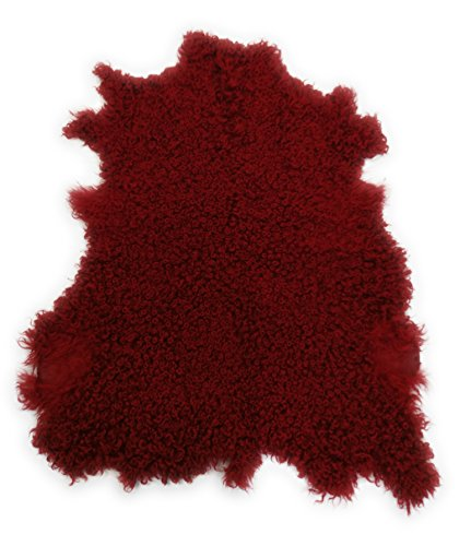 Dyed Cowhide Leather (Zerimar Goat hide leather area rug Angora dyed Size: 37x30 in 100% Natural)