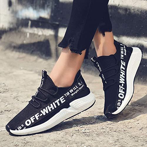 45 Fashion Casual Unisex Lightweight Shoes Sports Adult's Yokipk Shoes Black Men's Women's Exp0wqPq