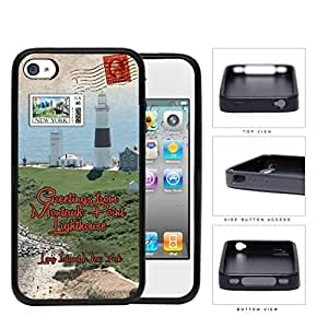 Montauk Point Postcard Long Island NY Hard Silicone PC Cell Phone Case Case For Samsung Galaxy S5 Cover