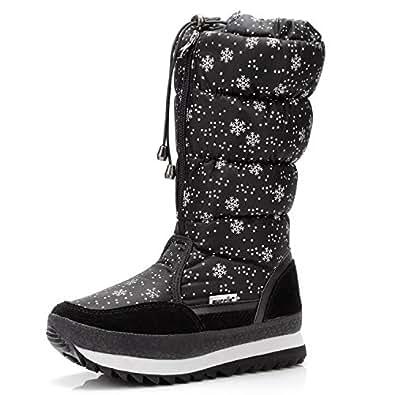 Amazon.com | Women's Knee High Waterproof Warm Snow Boots