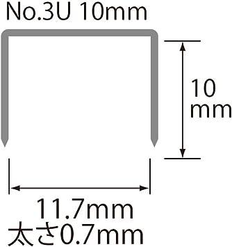 Qualit/ätsklammern PLUS Japan 2.000 Heftklammern Nr 26//10 3U 20 Streifen 10 mm