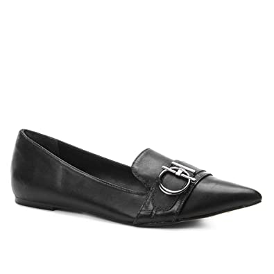 c579f10ab0 Mocassim Couro Shoestock Loafer Metal Feminino  Amazon.com.br ...