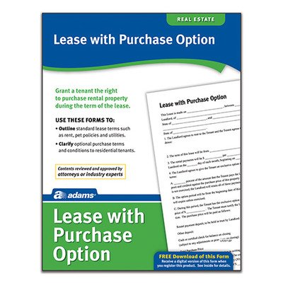 Lease with Purchase Option Forms and Instruction (Set of 288) [Set of 6]