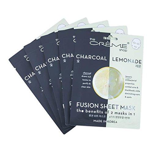 The Crème Shop Charcoal & Lemon Sheet Mask - 5 Piece Set