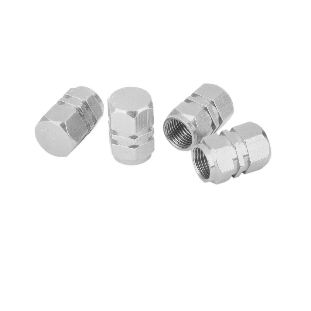 4x Tapas Tapones Válvulas Cubierta de Neumático Aluminio para LLanta de Camión Coche Color Plata: Amazon.es: Coche y moto