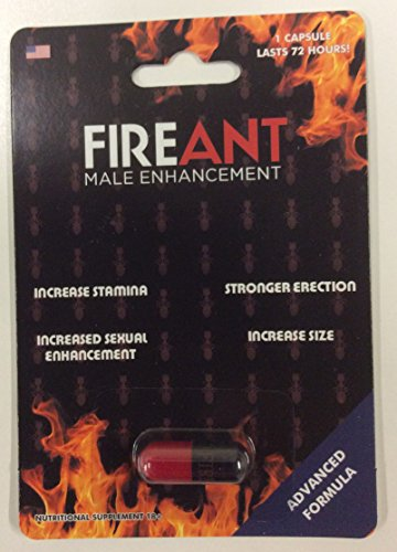 FIRE ANT Advanced Male Erectile Enhancement Formula - 2200mg = Get HARD & Stay Hard LONGER! (Stiff Nights Male)
