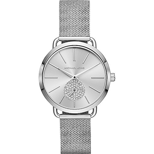 Michael Kors Watches Womens Portia Stainless-Steel Watch