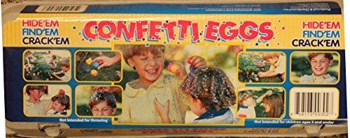 Eggs Confetti Easter (Easter Confetti Eggs (Cascarones) - Carton of 12 in Assorted Colors)