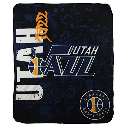Nba Lightweight Fleece Blanket  50  X 60    Utah Jazz