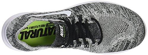 Nike Free Run Flyknit 2017, Zapatillas De Entrenamiento Para Hombre Negro (Black/white-volt)