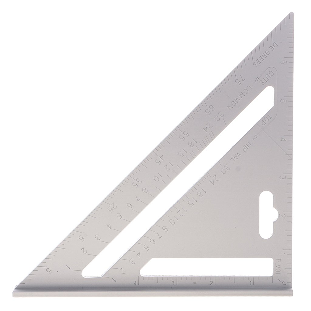 Dovewill Double Side Aluminum Alloy Square Combination Triangle Metric Inch Ruler Carpenter's Protractor Miter Framing