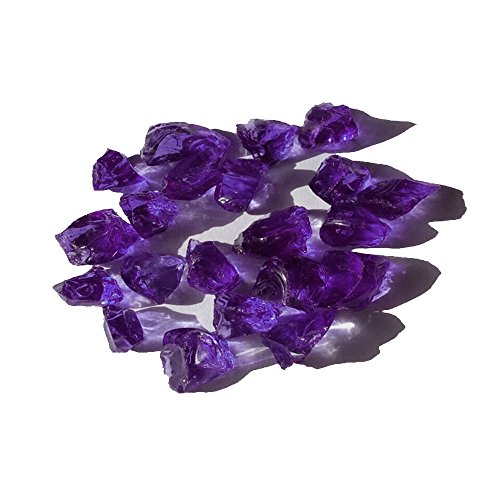 L.F.Z 10 Pounds 1/2-Inch Purple Recycled Decoration Landscape Glass for Indoor and Outdoor by L.F.Z