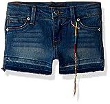 DKNY Big Girls' Casual Short, Hipster Hem Downtown Medium Wash, 12