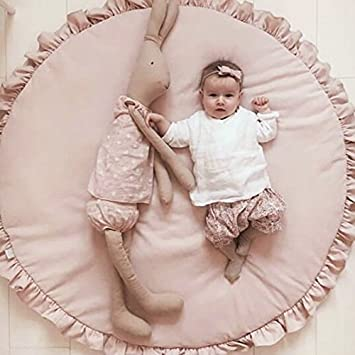 Baby Gyms & Playmats Romantic Newborn Kids Floor Mats Baby Crawling Blanket Cotton Chilren Padded Mat Round Carpet Play Rug Kids Room Decoration Mother & Kids