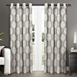 Exclusive Home Akola Grommet Top Curtain Panel Pair, 96-Inch, Dove Grey