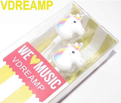 Cartoon Earphone Animal Unicorn 3D Earbuds in Ear Headphone for Apple Samsung HTC Android Smartphone Tablet MP3 Stereo Wired 3.5 mm Best Gift (Animal Unicorn)