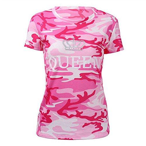 JWBBU King, Queen 1ª Edición- camisetas disponibles para hombre y mujer, algodón y poliester, tallas s-xxxl(venta por unidad de camiseta�?Rosa-queen