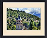 Framed Print of Alhambra Church Castle Towers Farm Mountains Granada Andalusia Spain